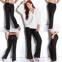 Women's Clubbing Jeans Trouser Top Ladies Black Business Pant Size 8 10 12 S M