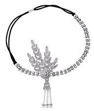 1920's Headpiece Great Gatsby Flapper Headband Wedding dress Crystal Hair Band
