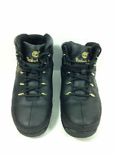 Timberland 90969 Euro Sprint  Junior Leather Boots-Black Size 7 US.