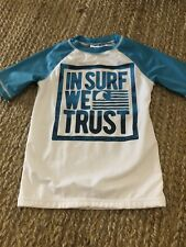 Gymboree Boys Short Sleeve Swim Rash Guard In Surf We Trust Size Small 5/6