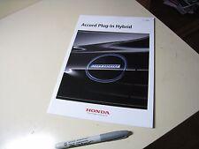 HONDA Accord Plug-In HYBRID Japanese Brochure 2013/12 DLA-CR5 LFA-MF8