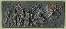 """""""Aurora"""" Antique Bronze Plaque After Guido Reni Fresco"""