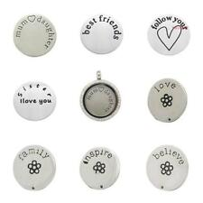 Unbranded Glass Stainless Steel Costume Charms