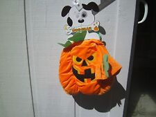 NEW SPOOKY DOG GEAR SCARY HALLOWEEN PUMPKIN COSTUME WITH HEAD-PIECE SIZE LARGE