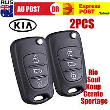 KIA Soul Cerato Koup Sportage Rio Sorento Flip Key Remote Shell/Case/Enclosure D