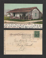 1908 OLD ADOBE HOUSE VENTURA CALIFORNIA UDB UNDIVIDED BACK  POSTCARD