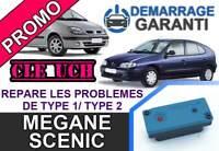 Clé UCH répare anti démarrage MEGANE SCENIC 1 Phase 2