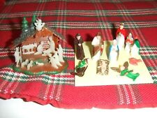 Vintage 2 Miniture Christmas Nativity Sets 1 Has No Stable Just People