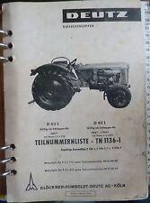 Deutz Schlepper D40L Ersatzteilkatalog
