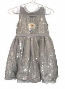 Disney Frozen Sleeveless Dress with Built in Slip - Size 2T  Sparkle