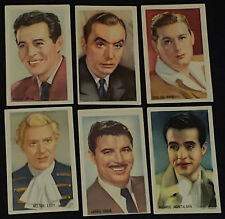 1930/40'S - MOVIE - STAR M.G.M. - TRADING CARDS (6) - COMPLIMENTS OF KWATTA