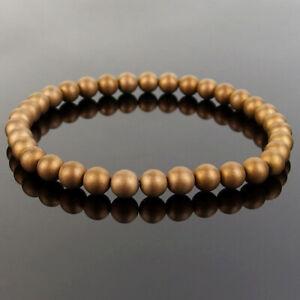 Stretchy Matte Stone Bracelets Natural Gemstone 6mm Beads Crystal Reiki Healing