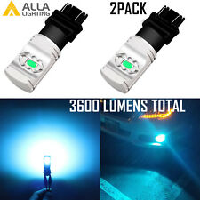 Alla Lighting LED 3157 Turn Signal Blinker DRL Parking ICE Light Blue Tint Bulb