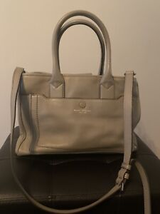Pre-Owned Marc Jacobs Empire City Tan/Gray Leather Bag Purse