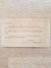 Raymond Hamilton Signed  Letter Bonnie and Clyde