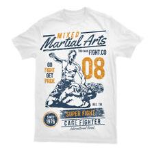 Camiseta MMA Gimnasio Top Cage Fighter Entrenamiento Artes Marciales Entrenamiento Para Hombre S-3XL