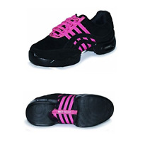 Black and pink Roch Valley Impact split sole jazz dance sneakers/shoes-Size UK 3