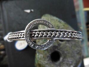 Beautiful Bracelet Bangle PIANEGONDA Silver 925 Solid Tb. Condition