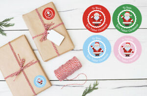 Personalised Christmas Stickers - Perfect When Wrapping Presents