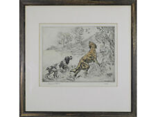Henry Wilkinson 'Golden Retriever & Spaniel' Limited Edition Signed Etching