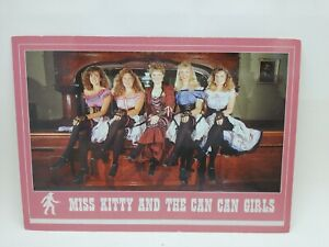 Vintage Miss Kitty And The Can Can Girls Long Branch Saloon Kansas Postcard