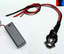 Flashing Red/Blue 5mm LED & Battery Box - Car/Van/Bike/Alarm