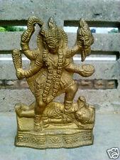 Kaali Kali Maa Mata Vintage Brass Statue - Height 6.1''