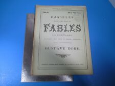 Vintage Cassell's Illustrated Book of Fables La Fontaine #8 by Gustave Dore L987