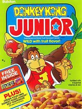 1983 Donkey Kong Junior Cereal Box High Quality Metal Magnet 3 x 4 inches 9589