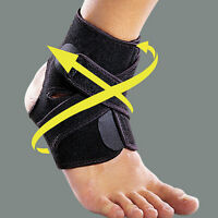 Ankle Support Brace Foot Guard Injury Wrap Elastic Splint Strap Protector_HO