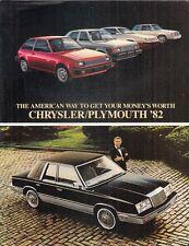 Chrysler Plymouth 1982 USA Market Brochure Horizon TC3 Reliant LeBaron Cordoba