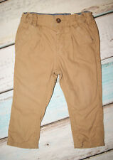 Marks & Spencer Baby Boys Herringbone Pattern Lined Trousers Size 9-12 Months