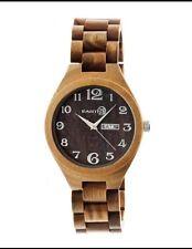 Earth Men's Sapwood Brown Wood Olive Analog Watch