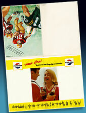 Pepsi Cola Old Football Faltprospekt High School 1965+ Rares Ordermuster