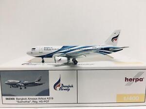"""Herpa Wings Bangkok Airways Airbus A319 """"Sukhothai"""" 1:400 HS-PGT 562300"""