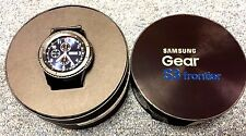 NEW IN BOX Samsung Galaxy Gear S3 frontier 46mm Stainless Steel Case Black Sport