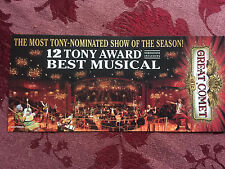 Great Comet Tony nomination edition   ad/flyer   Broadway NYC