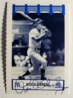 1992 The Wiz Ron Blomberg Yankees 60's Auto Autograph Signed 2x3 Rare Card