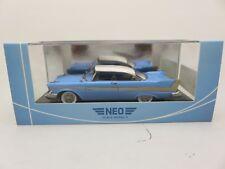 Plymouth Fury Hardtop light blue, white 1958 NEO resin model 1:43 46085