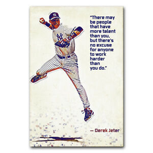 Motivational Quote Wall Poster Baseball Sport Print Picture Office Room Decor
