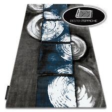 Modern Design Original 3D Rugs 'Intero' Squares Blue Grey Best Quality