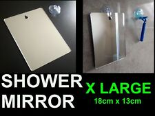 X LARGE Shower Shaving Mirror,Strong Safe Shatter Proof,Travel.Camping FREE Hook