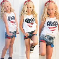 Toddler Kid Baby Girl Summer Top T-shirt+Short Pants Outfit Set Clothes 2pcs Set