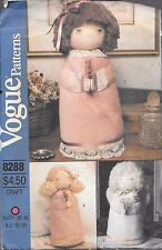 Vogue craft sewing pattern 8288 vintage praying angel doll decorative UNCUT FF