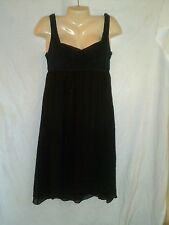 TO THE MAX SILK CHIFFON AND SUADE LEATHER  BLACK DRESS NWT RETAIL 158.00 SIZE 6