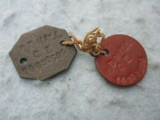 Wwii Canadian Army Dog Tags Pair Ww2 Cd Hall 14,992584 Engineers Ww2
