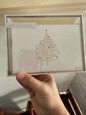 Hallmark Signature Gold Collection Christmas Tree Cards, Sealed, 10 Cards