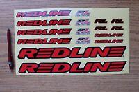 Redline Complete Decal Set Red Sticker Set BMX Bike Mountain Bicycle New 36622