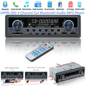 16 PIN-ISO 4-Channel Digital Car Bluetooth Audio USB/SD/FM/WAV MP3 Player Unit
