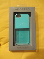 ADOPTED - APPLE IPHONE 5 -TEAL BLUE SEE THROUGH - CELL PHONE CAPLET CASE SHELL